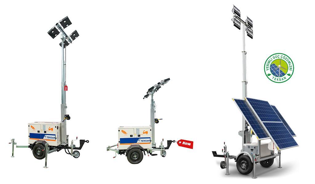 Lighting Towers Generators Diesel, Portable Outdoor Lighting Tower