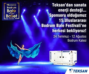 Teksan's energy sponsor is opening the 15th International Bodrum Ballet Festival curtains